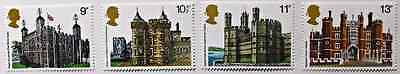Royal Mail British architecture, historic buildings March 1978 stamps, GB, MNH