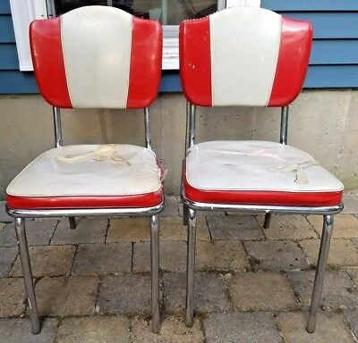Vintage Original 1950s Howell Chromsteel Chrome Kitchen Chairs for restoration