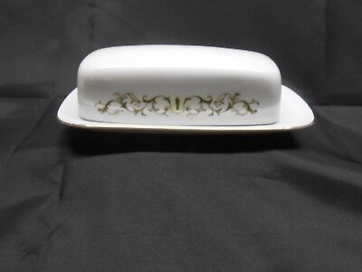 Fine China of Japan BELL FLOWER  #2999 1/4 LB. Covered Butter Dish