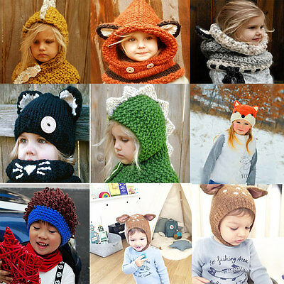 Cute Toddler Baby Earflap Winter Warm Hat Toddler Girl Boy Kids Beanie Cap Lot
