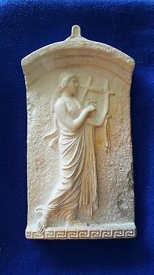 Greece Made Replica Wall Hanging Plaster Cast For Museum Signed