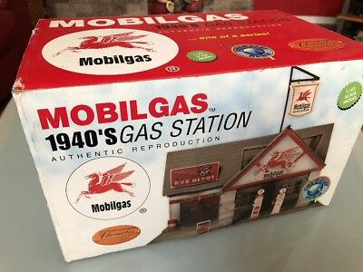 1940s Mobilgas Gas Station 1:43 Scale Cold cast Resin Mobil