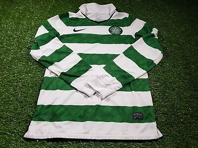 celtic scotland football small mans rare unsponsored player issue l/s nike shirt