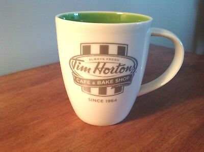 Tim Hortons Coffee Mug Cup Limited Edition Green Inside