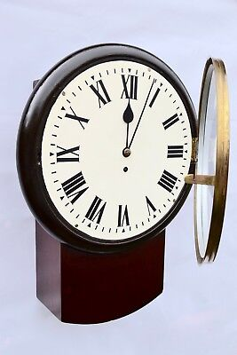 Original Large Fusee Drop  Dial Wall Clock
