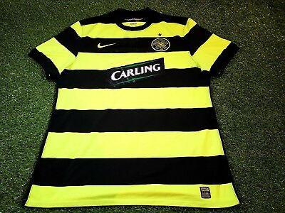 celtic scotland football extra large mans rare player issue nike away jersey