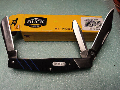 """Buck #371 Large. Stockman Style 3 Blades G-10 Handles 4"""" Closed New In Box"""