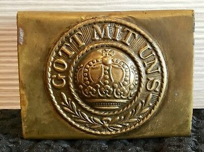Imperial German, Pre-WW 1 Enlisted Man's Brass Belt Buckle, Kingdom of Prussia