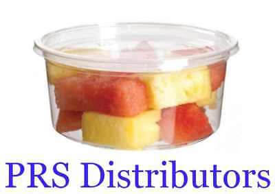 8oz Round Deli Food Soup Storage Containers with Lids Microwavable Clear Plastic