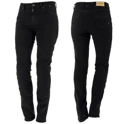 Richa Nora Ladies Aramid Motorcycle Jeans - BLACK