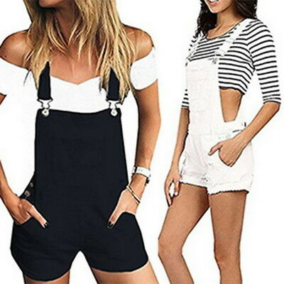 Fashion Womens Casual Shorts Baggy Pocket Jumpsuit Dungarees Shorts Playsuits