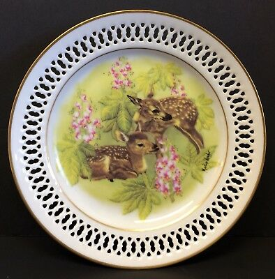 "Bing & Grondahl Plate: The Next Generation-""The Fawns""- Marilyn Leader, Aritist"