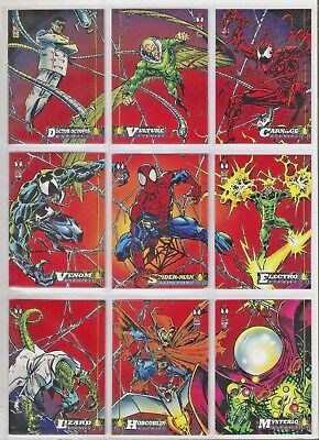 1994 Marvel Fleer trading cards 1st edition puzzle layout - Spiderman