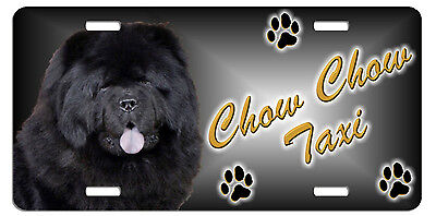 Chow black  Taxi Line License Plate (( SPECIAL LOW CLEARANCE PRICE ))