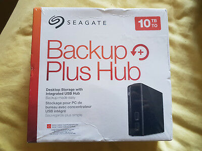 New & Sealed Seagate Backup Plus Hub Desktop Storage Integrated USB Hub 10TB