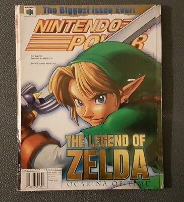 Nintendo Power Magazine Legend of Zelda:Ocarina Time Vol 114 W/Poster, inserts