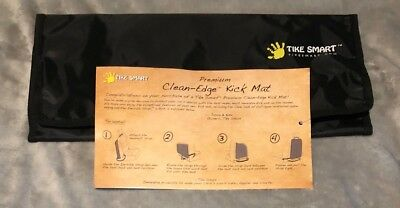 Tike Smart Luxury Clean-Edge Kick Mat - Seat Back Protector And Seat Cover Black