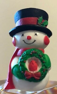 Hallmark Merry Miniature 1976 Mr. Snowman with Wreath - Christmas