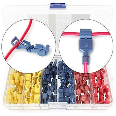 120 PCS T Tap Electrical Connectors Quick Wire Splice Taps And Insulated Male