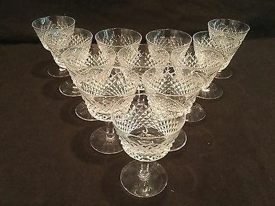 Set Of 12 Waterford Crystal Liquor Cocktail Glasses In The Alana Pattern