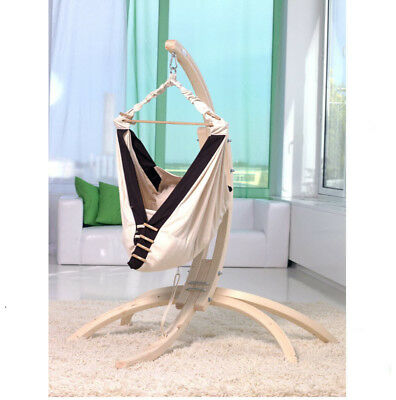 Baby Hammock with Timber Stand & Cot Bassinet Blanket Crib Travel Portable Safe