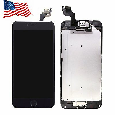 For iPhone 6 Plus Digitizer Complete Screen  LCD Touch Replacement +Home Button