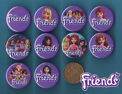 Lego Friends - 10 x 31 mm Button Badges Birthday Party Bag Filler