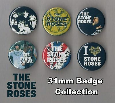 The Stone Roses 31mm Badge Collection Set 1 Ian Brown FREEPOST
