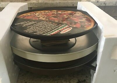 "Vtg Rival Pizza Parlor Stoneware Electric Pizza 12"" Cooker  4012  collectable"