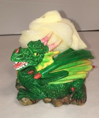 Myths & Legends Green Dragon Figurine Candle Holder  Adams Apple Creations 2001