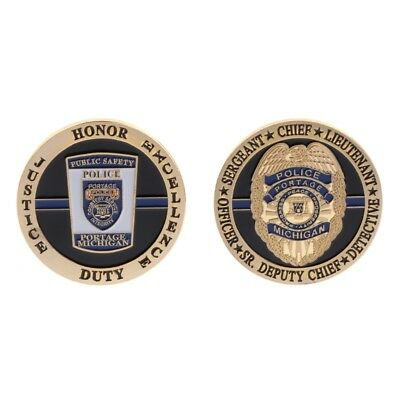 Commemorative Coin Michigan Police Chief Sergeant Collection Arts Gifts Souvenir