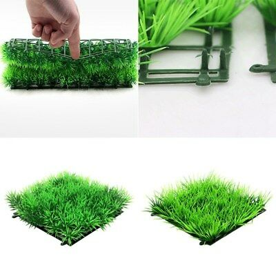 Artificial Water Green Grass Fine Needles Lawn Aquatic Aquarium Fish Tank Decor