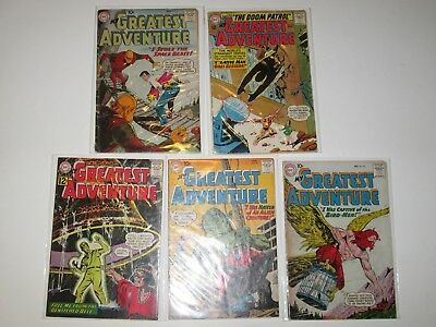 My Greatest Adventure Lot of 5 (#37,38,46,71,83) Silver-Age