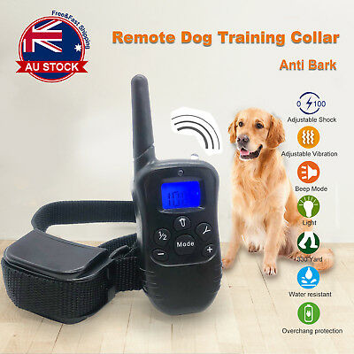 Rechargeable 3In1 Dog Remote Training Anti Bark Vibration Stop Barking Collar C
