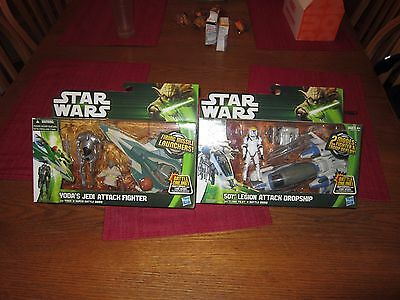 "STAR WARS ""EXPANDED UNIV"" 2013 (YODA & 501st ""CLASS 1 VEHICLE'S"")FREE SW ITEM!!!"