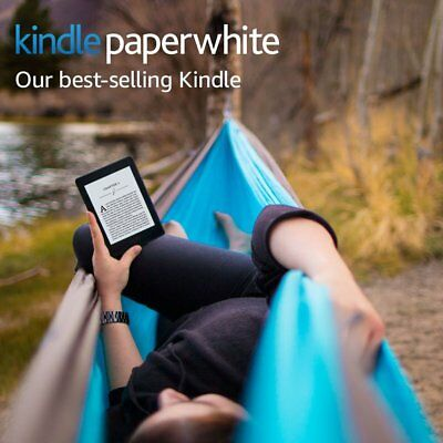 Kindle Paperwhite E-reader Wi-Fi + FREE CELLULAR CONNECTIVITY - White, Brand new