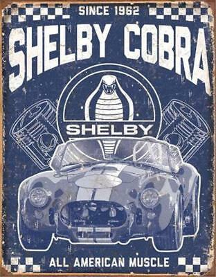 Shelby Cobra All American Muscle Classic Cars Metal Tin Sign