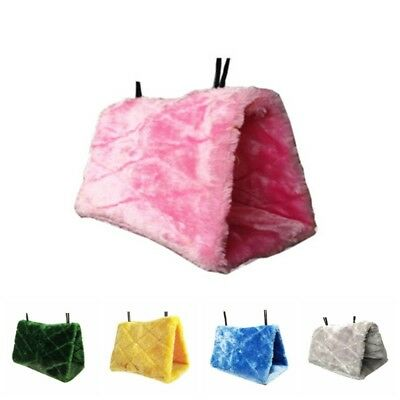 New Bird Hammock Hanging Cave Cage Plush Snuggle Happy Hut Tent Bed Bunk Parrot