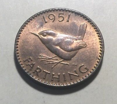 Great Britain (UK) 1951 Farthing Coin - King George VI