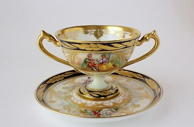 Dresden Double Handled Cup & Saucer