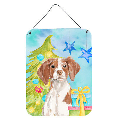 Brittany Spaniel Christmas Wall or Door Hanging Prints
