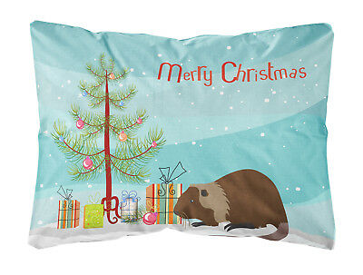 Coypu Nutria River Rat Christmas Canvas Fabric Decorative Pillow