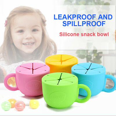 Kid Baby Cup Silicone Soft Storage Anti Spill Leak Proof For Snack Candy Biscuit