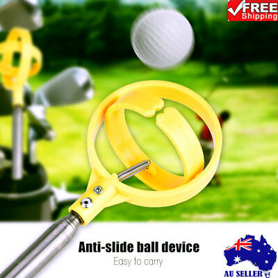 Practical 8 Sections Golf Picker Telescopic Ball Pick-up Tool Retriever Scoop AU