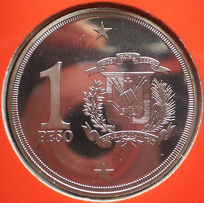 DOMINICAN REPUBLIC 1 PESO 2003 PROOF Dominicana Dominikanische Dominicaine