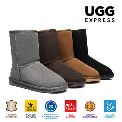 EVER UGG Short Classic Unisex Boot - Double Face Sheepskin Water Resistant