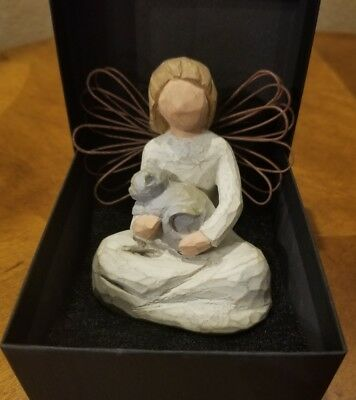 """CAT and ANGEL Figurine """"Angel of Kindness""""  FREE SHIPPING"""