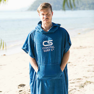 COASTAL SURF CO's Adult & Junior Kids HOODED Poncho Surf Beach Swimming Towels