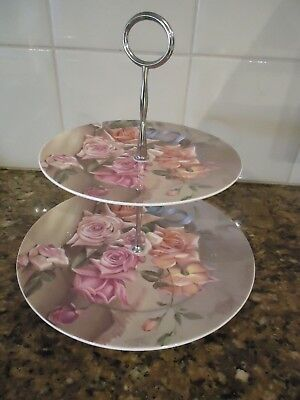 Maxwell & Williams 2 Tier plate (Blue ribbons)