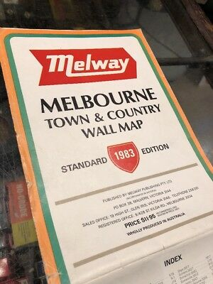 Melway Melbourne 1983 Town & Country Wall Map